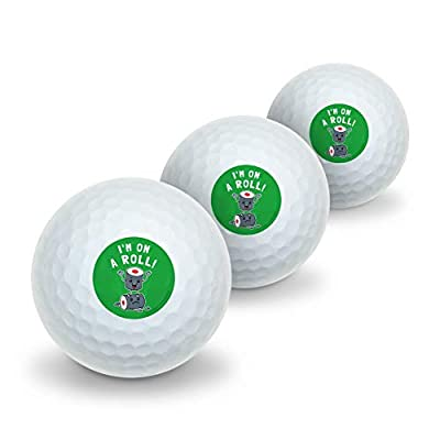GRAPHICS & MORE I'm on a Roll Sushi Funny Humor Novelty Golf Balls 3 Pack