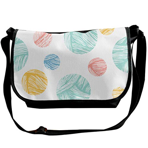 "Ysgjhe Graffiti Circle Interesting Printed Wide Cross Body Bag with Adjustable Shoulder Strap, Outdoor, Travel, School, 6.3"" 11.8"" 10.2"""