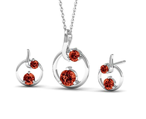 Swarovski Elements Crystals Smoky Topaz Color Designer Pendant Jewelry Set for Women and Girls by Glimmering