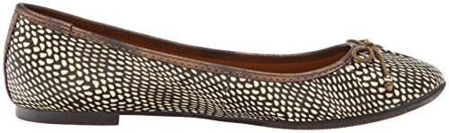 Seychellen Womens Standing In Line Ballet Flat Brown Exotic / Bronze