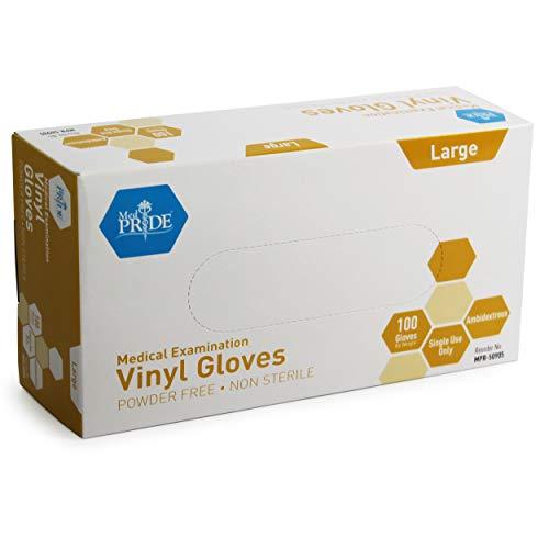 Medpride Medical Vinyl Examination Gloves