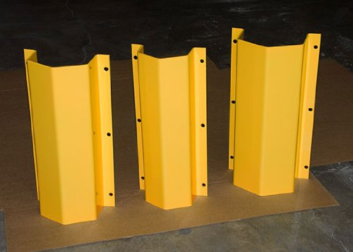Beacon Steel Pipe Guard; Flanged: 45 Degree Flange for corner; Body Width: 11''; Body Height: 36''; Accommodate Pipe: 6''; Coating: Powder Coated Yellow; Weight: 70 lbs.; Model# BPGWM636-45-Y