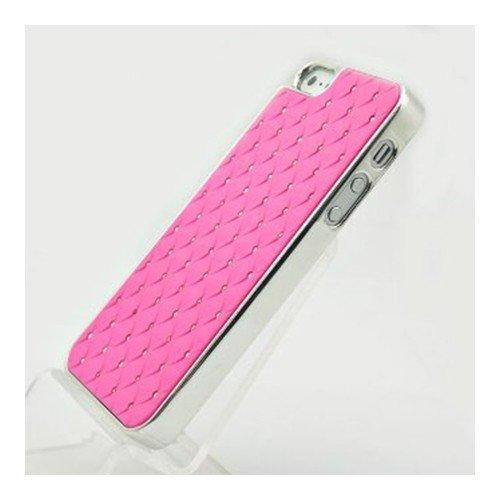 Bling Hard Case für iPhone 5 - Hülle für Apple iPhone 5 Cover Case Handytasche Hartschale mit Strass in Pink