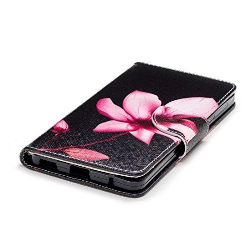 fente Nokia fermeture en aérosol protection 6 carte de 2018 avec d'impression étui avec magnétique en Flowers peint cas conception Hozor pour portefeuille support PU Flip cuir 1dqxP1wZ