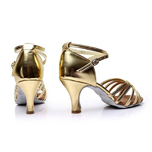 DorkasDE mit Absatz Schuhe Gelb Tanzschuhe Mädchen Latein Damen Ballsaal Tanzschuhe Tanz 7cm 7cm Absatz Latein 5 zfrwzqp
