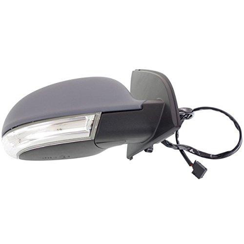 Koolzap For 06-09 VW GTI Power Heat Turn Signal Lamp Primed Fold Mirror Right Passenger Side ()