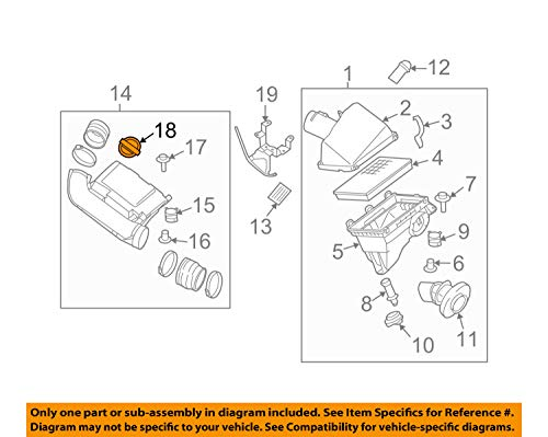 NISSAN 140487S001 GENUINE OEM ORNAMENT
