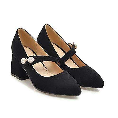 Noir 36 5 Femme AdeeSu EU Sandales Noir Compensées SDC05697 p0xwpIqYZ