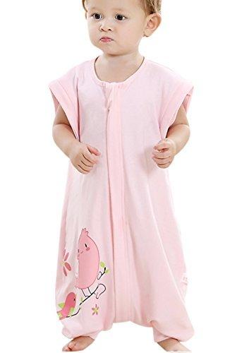 Nine States Baby Sleep Sack Cotton Wearable Blanket,Sleep Sack with Feet,Detachable Long Sleeves,Pink,Small
