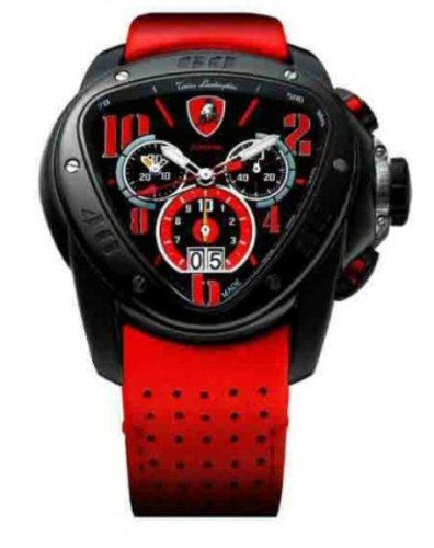 Orologio uomo nero e rosso