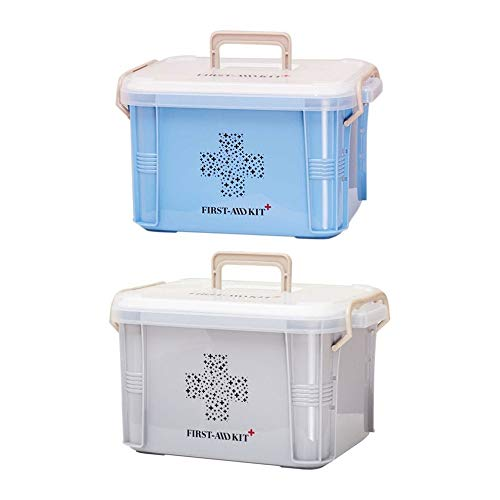 SMEI Medicine Box First Aid Kit Boîte De Plastique Container Emergency Kit Portable Multi-layer Large Capacity Storage… 4