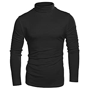 COOFANDY Mens Slim Fit Basic Thermal Turtleneck Sweaters Casual Knitted Pullover Sweaters