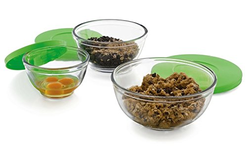 Libbey Baker's Basics 3 piece Glass Mixing Bowl Set