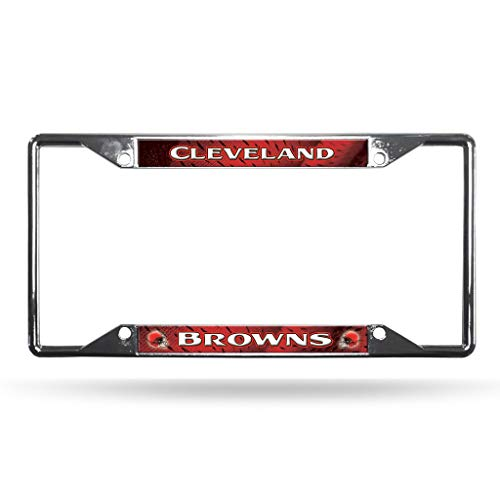 - Rico Industries NFL Cleveland Browns Standard Chrome License Plate Frame