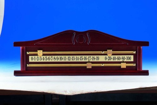 Cueball16 A Very Nice Mahogany Finish Ornamental Snooker Scoreboard Complete With Solid Brass Scorer/Rails And Pointers
