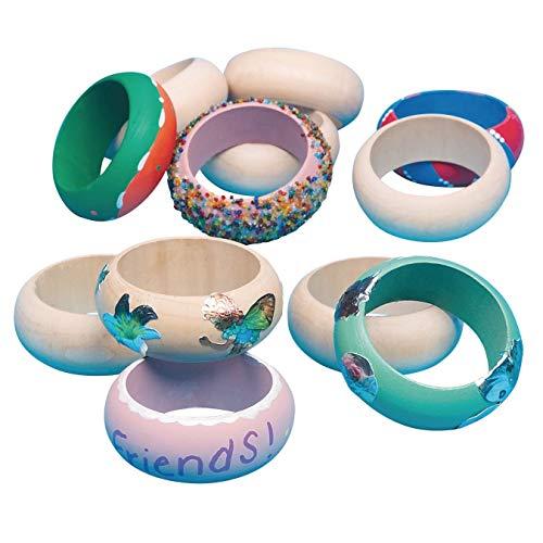 S&S Worldwide Large Wooden Bangle Bracelet (Pack of 12) (Wooden Bangle Bracelets)