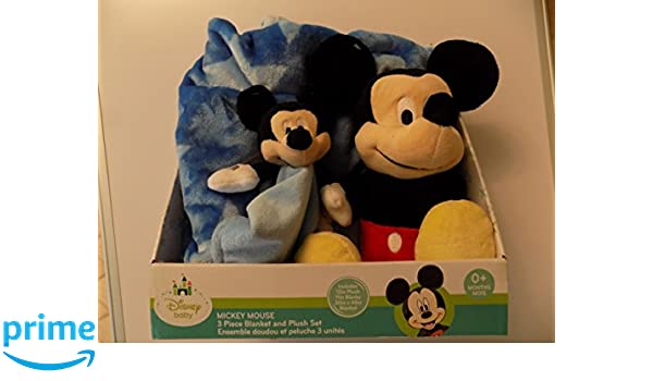 Amazon.com: Disney Baby Mickey Mouse 3 Piece Blanket and Push Set Age 0+: Baby