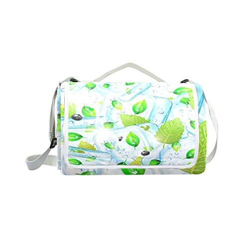 My Little Nest Outdoor Camping Picnic Beach Blanket Mat Ice Cubes Lightweight Portable Folding Travel Pad 57'' x 59'' by My Little Nest