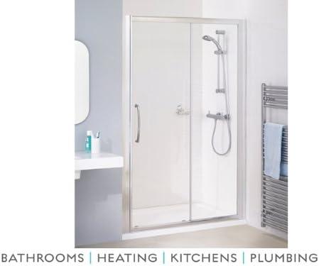 Semi importantes para mampara de ducha de baños sin Marco Slider 1100 mm plateado: Amazon.es: Hogar