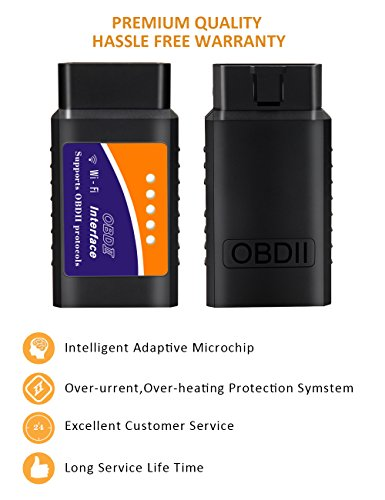 kungfuren OBD2 Scanner, [2018 NEW] Code Reader Car diagnostic Tool Compatible With IOS, Android & Windows Devices Connects Via WiFi For Cars by kungfuren (Image #4)