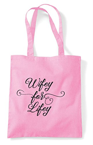 Tote Customised Personalised Bag Pink Shopper Light Party Do Wifey Hen For Hen Lifey g5xw8qFAnW