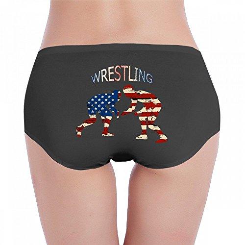 Antonia Bellamy American Flag Wrestling Wrestler Aged Women Comfort Hipster Panties Panty Underwear by Antonia Bellamy