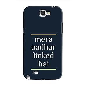 Cover It Up - Mera Aadhar Linked Hai Galaxy Note 2 N7100 Hard Case