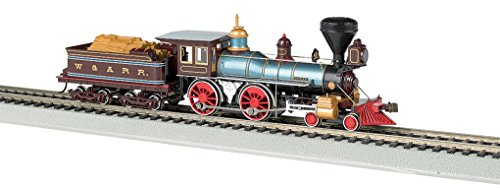 Bachmann Industries 4-4-0 American Steam DCC Ready W&ARR Texas with Wood Load Locomotive (HO Scale) ()