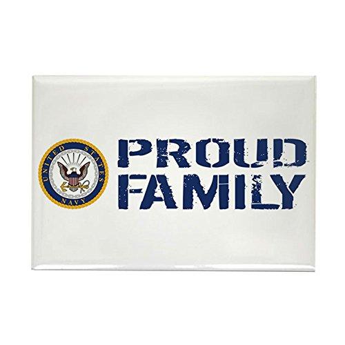 (CafePress U.S. Navy: Proud Family (Blue & W Rectangle Magnet, 2