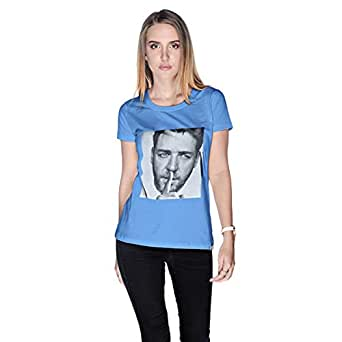 Creo Russel Crowe T-Shirt For Women - M, Blue