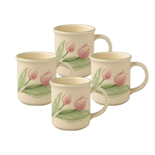 Pfaltzgraff Garden Party Coffee Mug (13-Ounce, Set of 4)