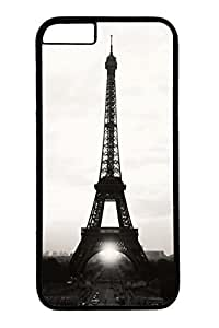 Personalized Protective Cases for New iPhone 6 PC Black Edge - Eiffel Tower03