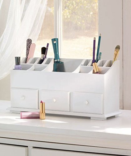Simply Simily Desk Drawer and Makeup Storage Organizer with 3 Drawers, White by Bigbolo (Image #2)