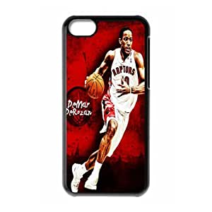 NBA Team Toronto Raptors Demar DeRozan Print Black Case With Hard Shell Cover for Apple iPhone 5C
