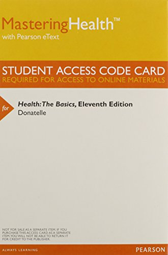 Masteringhealth with Pearson Etext - Valuepack Access Card - For Health: The Basics