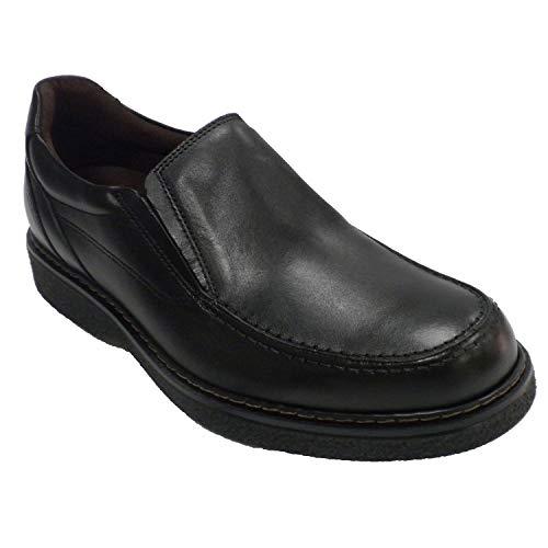Sport Zapato Piso Hombre Goma en Negro Pitillos 5xxFOwz4