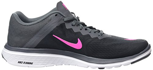 Nike Fs Lite Run 3 - Zapatillas de running Mujer Negro (Black / Pink Blast-Dark Grey-Wht)