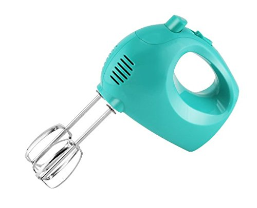 Best Small Turquoise 5 Speed Electric Hand Mixer Mom Cook Women Gifts Best Valentines Day Special Supplies