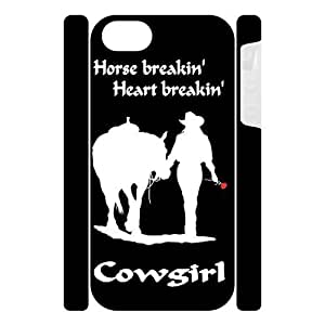 Canting_Good Racing Cowgirl Custom Dual-Protective 3D Polymer Case Shell Skin for IPhone 5