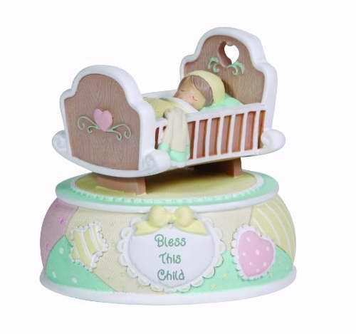 Precious Moments Baby in Crib Rocking Musical, - Rock Little Mall Outlet