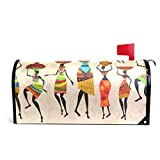 LORVIES Retro Beautiful African Women Magnetic Mailbox Cover Oversized 25.5 x 18 Inch