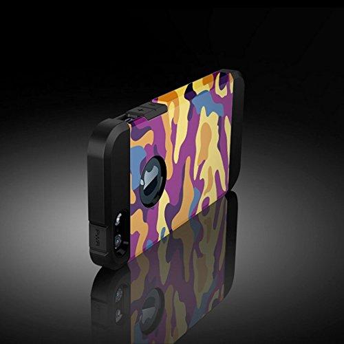 Phone Taschen & Schalen Für iPhone 6 Plus & 6s Plus Lila und Gelb Tarnmuster Tough Armor TPU + PC Kombi Fall ( SKU : S-IP6P-3256A )