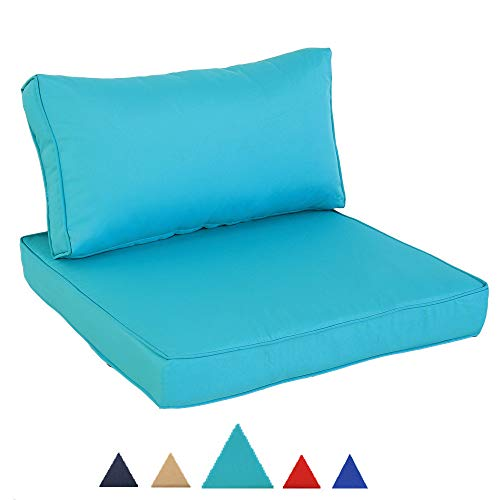 Leaptime Patio Sofa Cushion Seat Cushion and Back Cushion Turquoise