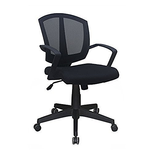 OfficeSource Sprint Series Mid-Back Office Task Chair, Black Mesh