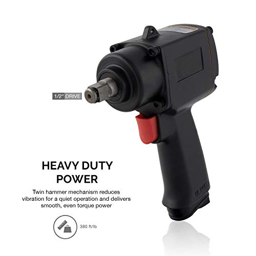 "AVGDeals 1/2"" Square Drive Mini Air Impact Wrench 