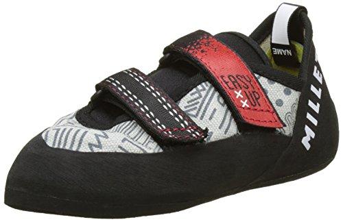 Millet Easy Up zapatillas de escalada infantil gris y rojo