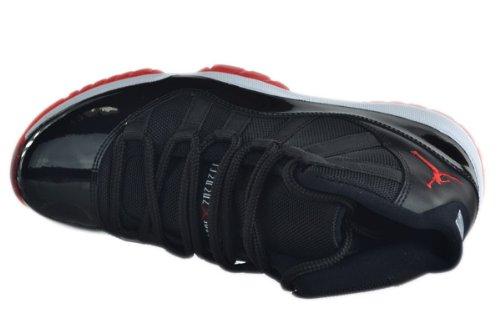 Amazon.com   Air Jordan 11 XI Retro \u0026quot;Bred\u0026quot; Men\u0026#39;s Basketball Shoes Black/Varsity Red/White   Basketball