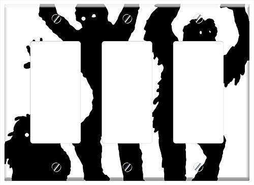 Switch Plate Triple Rocker/GFCI - Zombies Halloween Monster