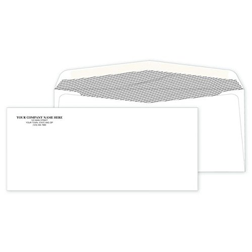 - Personalized #10 Non-Window Security/Confidential Envelopes - (500 qty) Custom