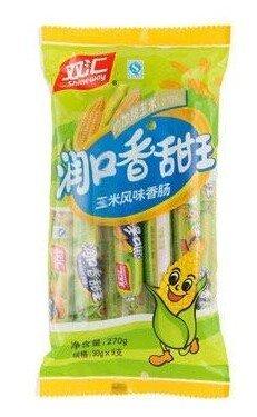 Domilove® Chinese Special Spicy Snack Food: Gluten Wei Long La Tiao Shuanghui Run Kou Xiang Tian Wang Pack of 9 (双汇润口香甜王 30g X 9 Pack)